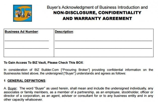 """Should I Sign An """"NDA"""" When Buying A Business?"""
